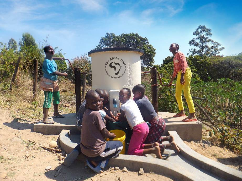 Teenagers In Africa Using An Elephant Pump