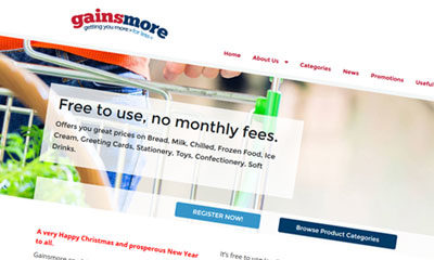 Web Portal Update and Redesign for Gainsmore