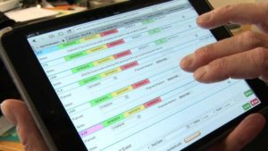 RPD Assure System being used on a tablet