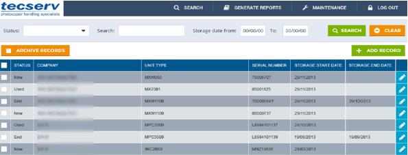 TecServ Warehouse Management System